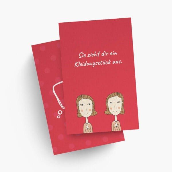 Love Aktionskarte aus der Sexspiel Variante für lesbische Paare