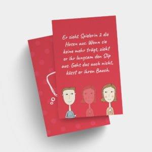 Sexspiel zu dritt – Vorlage LOVE Aktionskarten, Dreier FFM